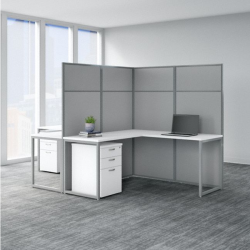 bush 2 person l desks white 2