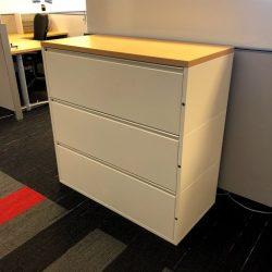 3 drawer metal lateral file hm
