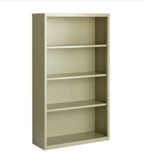 4 shelf metal bookcase