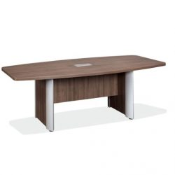 boat shaped conference table with elliptical base 1