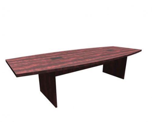 boat shaped conference table with slab base 1