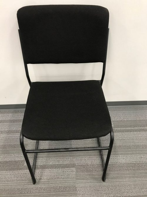 fabric sled style stack chair (7) b