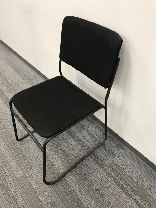 fabric sled style stack chair (7) d