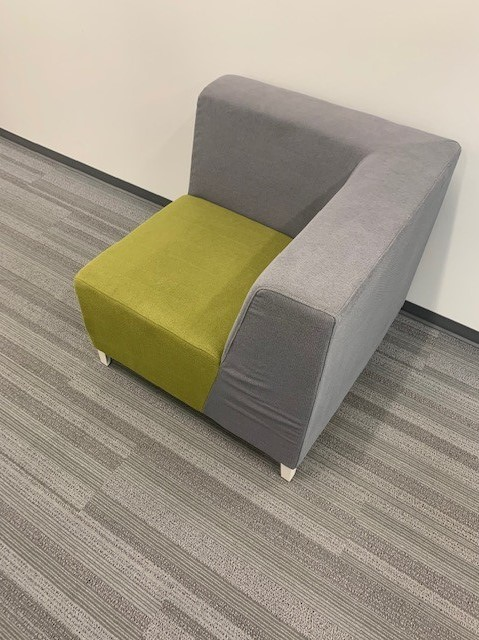 grey green cushioned seating 7