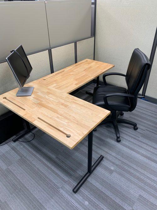 maple desk t legs b