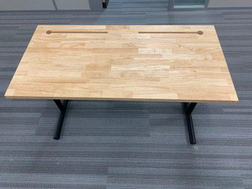 maple desk t legs c