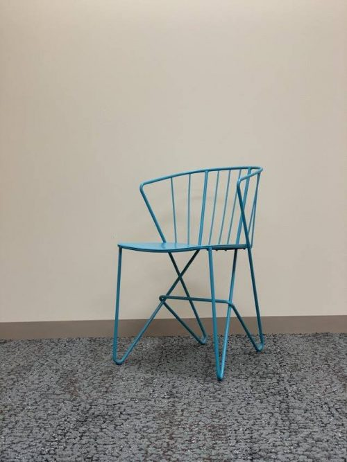 metal spindle style chair tuqouise a