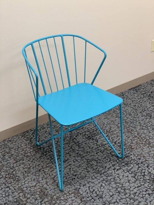 metal spindle style chair tuqouise d