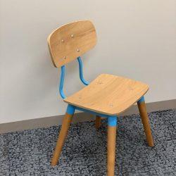 public side chair blue d
