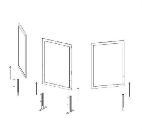 safeguard barrier collection clear acrylic optional screen 4