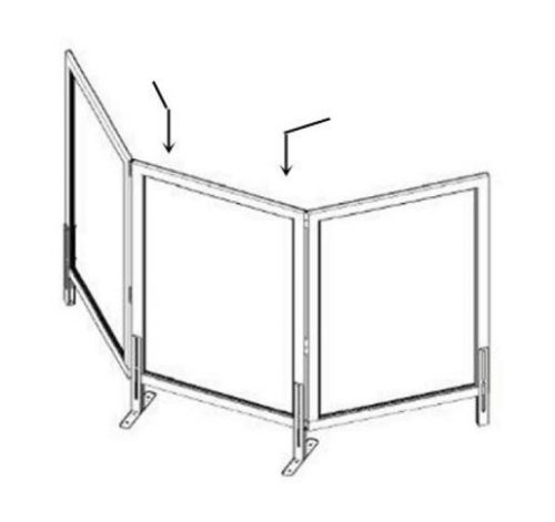safeguard barrier collection clear acrylic optional screen 5