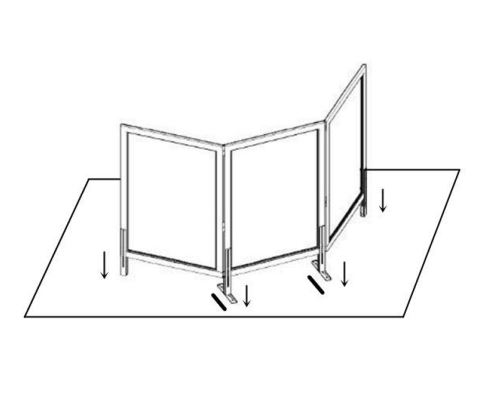 safeguard barrier collection clear acrylic optional screen 6