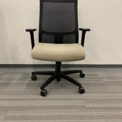 tan and black task chair 1