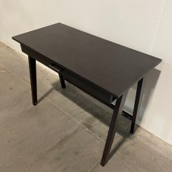 dark brown desk with drawer 2